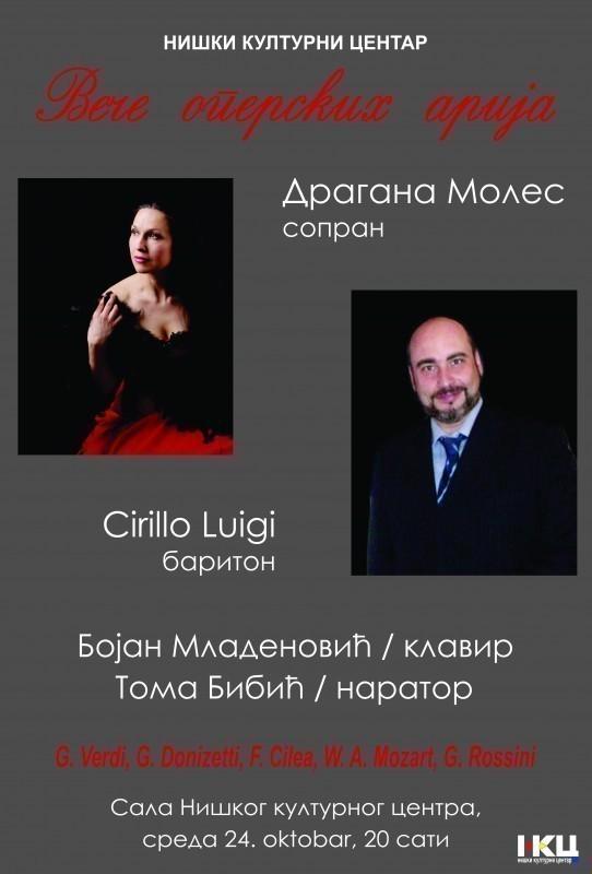 Veče operskih arija u NKC-u