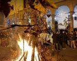 Благословен дан - Бдење и налагање Бадњака у Саборном храму