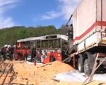Sudar autobusa i kamiona kod Kuršumlije, petoro nastradalih u vatri