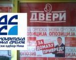 """Коалиција """" Двери-ДСС"""" предала своју листу ГИК у Нишу"""