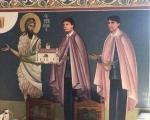 Гашић освануо на фресци: Бивши министар и његов брат Бобан раме уз раме са свецем