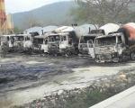 Zapaljeno 9 kamiona