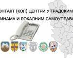 Контакт (кол) центри у градским општинама и локалним самоуправама Нишавског округа