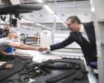 """800 нових радних места у новој фабрици """"Магна"""" у Алексинцу - Вучић присуствовао свечаном отварању"""