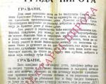 Божићни проглас грађанству Пирота из 1933. године