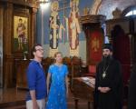 Владика нишки Арсеније примио принца Филипа Карађорђевића и принезу Даницу