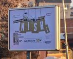 Реклама за летове из Ниша на албанском
