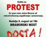 Протест против загађења Јужне Мораве