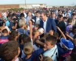 Вучић u Лесковцу: Радови на изградњи шест нових стадиона од априла