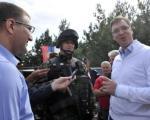 Vučić u bazi Merdare: Srbija će umeti da zaštiti svoj narod i teritoriju