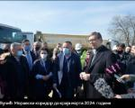 Вучић: Моравски коридор до краја марта 2024. године - дуж целог пута бесплатан интренет