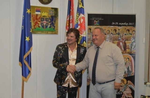 Ален Исламовић на пријему код градоначелника Лесковца
