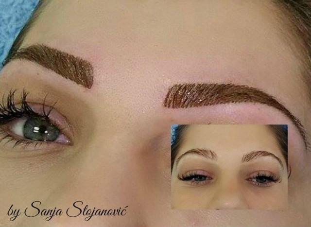 Trajna šminka obrva -tehnika iscrtavanja dlačica