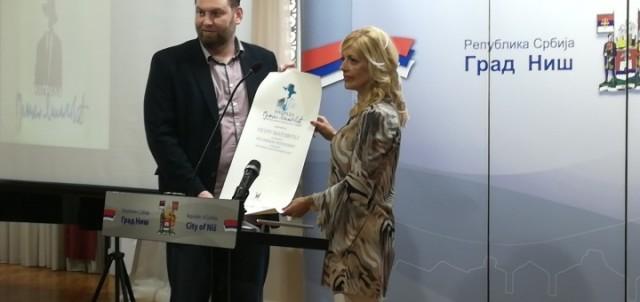 """Петру Матовићу уручена награда """"Бранко Миљковић"""""""