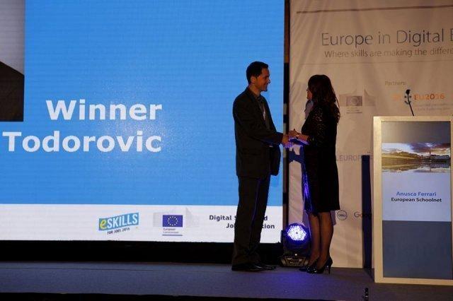 Далибор Тодоровић добитник награде eSkills for Jobs 2016