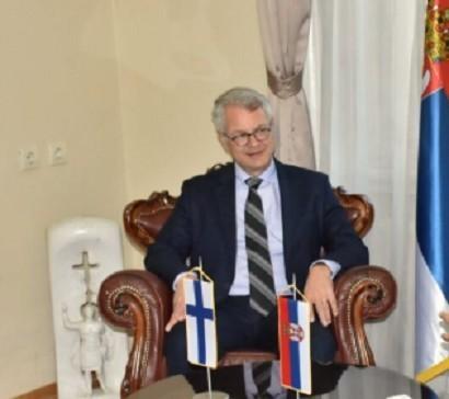 Ambasador Finske Kimo Lahdevirta u poseti Nišu