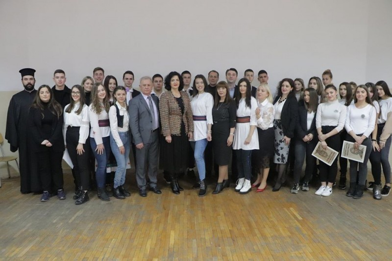 Сотировски на обележавању Савиндана у Угоститељско-туристичкој, Економској и Трговинској школи