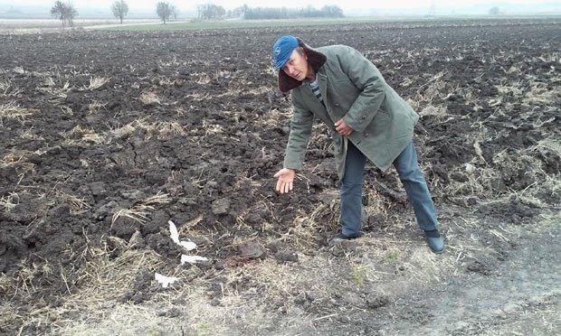 Novica Petrović pokazuje gde je ležalo telo ubijene Foto: M. P.