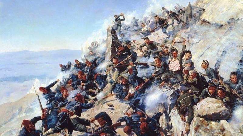 Битка на превоју Шипка, руско-турски рат (1877-1878). Wikipedia.org