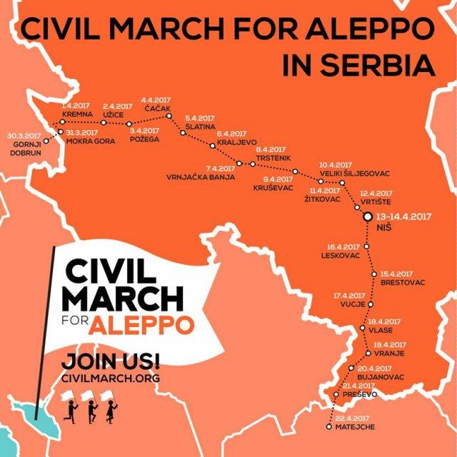 """""""Марш за Алеп"""" преноћио у Житковцу"""