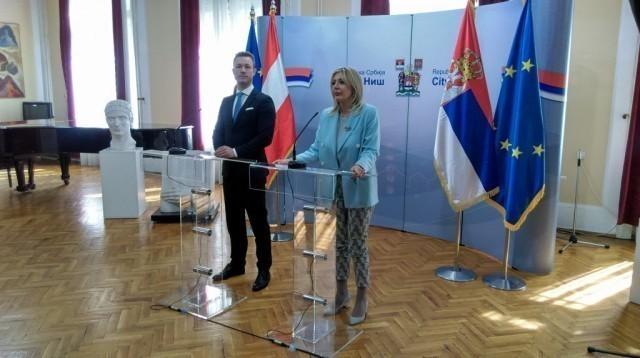 Jadranka Joksimović primila u  Nišu ministra Austrije za Evropsku Uniju