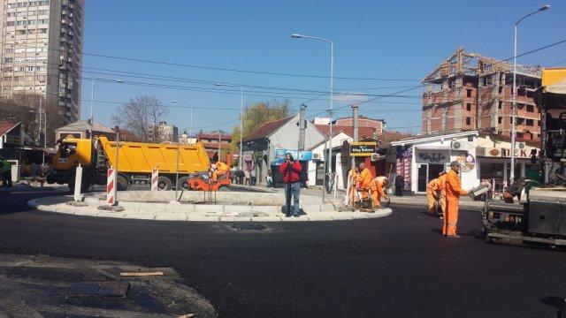 Kružni tok u Dušanovoj biće završen deset dana pre roka