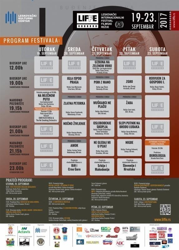 Program 10. Leskovačkog internacionalnog festivala filmske režije (LIFFE)
