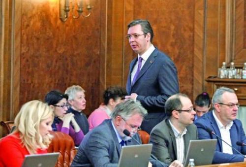 U novoj vladi mesta samo za SNS: Aleksandar Vučić f: petar dimitrijevic