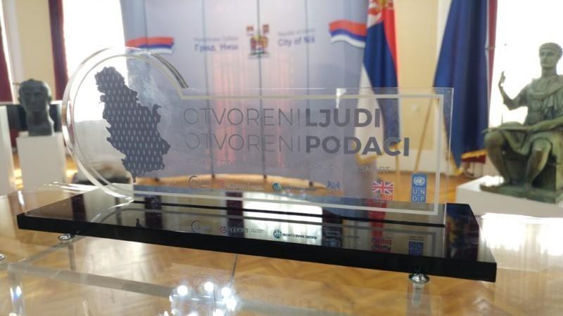 "Ниш добитник награде ""Open Data Publisher Award"""