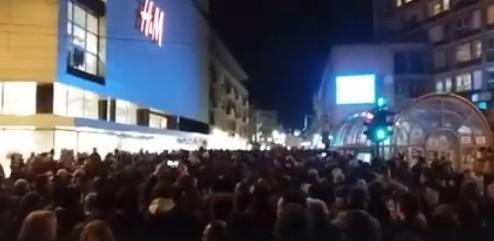 Пети протест у Нишу: Осуда Перишићеве изјаве