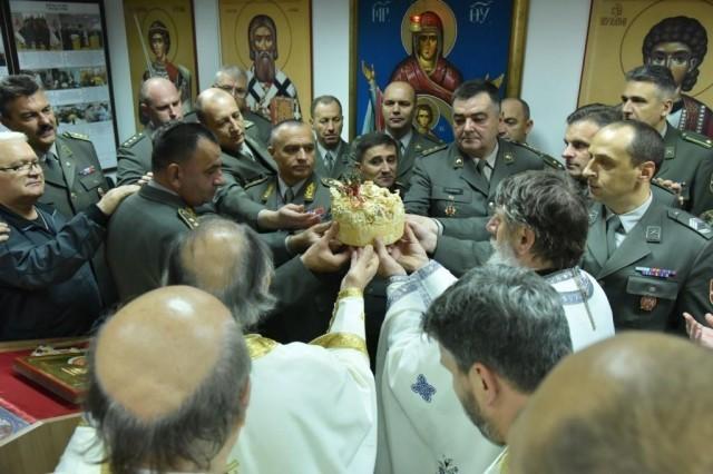 Слава Копнене војске: Освештана спомен-соба Команде Копнене војске у Нишу