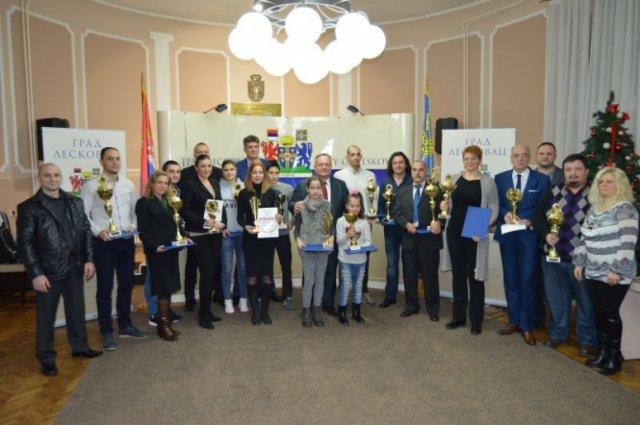 Проглашени најбољи спортисти Лесковца за 2016. годину