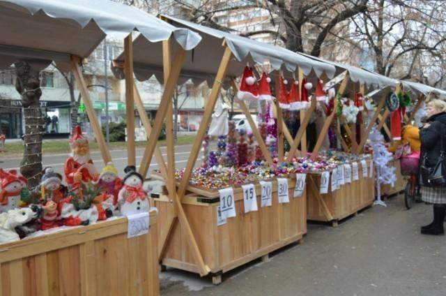 Novogodišnje, tipske tezge u Leskovcu
