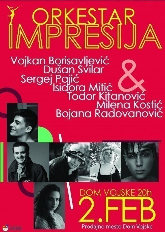 """Концерт """"Импресије"""" за младе и оне који се тако осећају"""