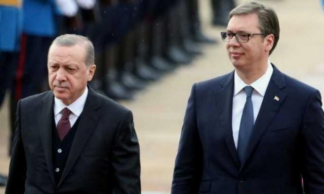 Treći susret u godinu dana: Redžep Tajip Erdogan i Aleksandar Vučić - EPA / Koča Sulejmanović