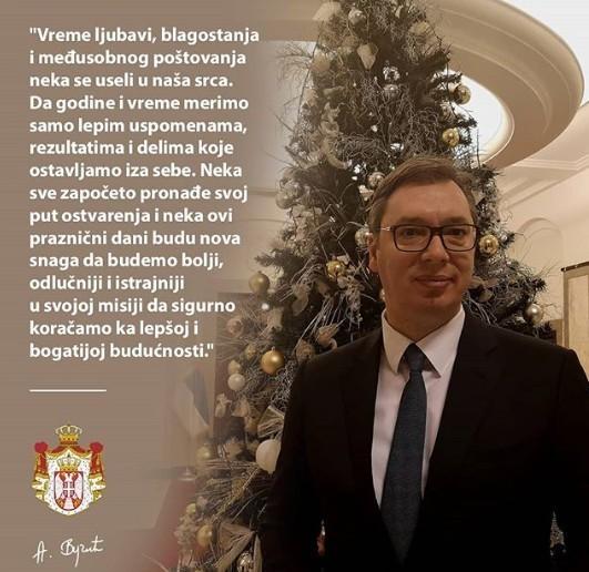 Новогодишња честитика председника Вучића