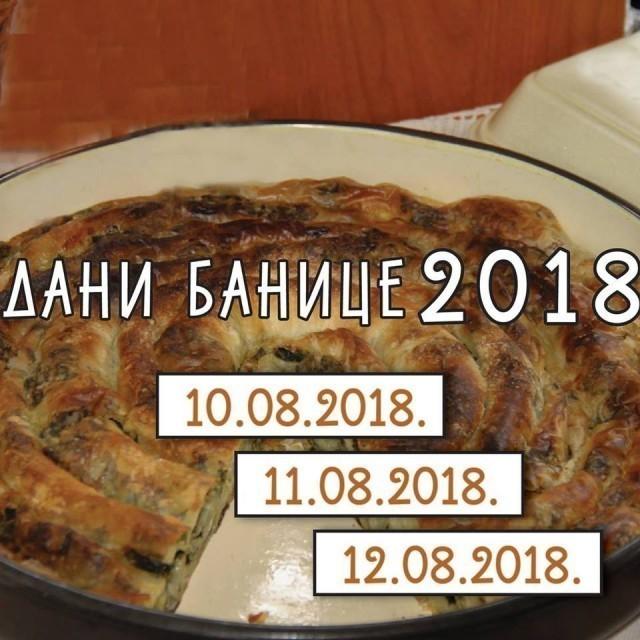 """""""Dani banice 2018"""" u Beloj Palanci počinju u petak 10. avgusta"""
