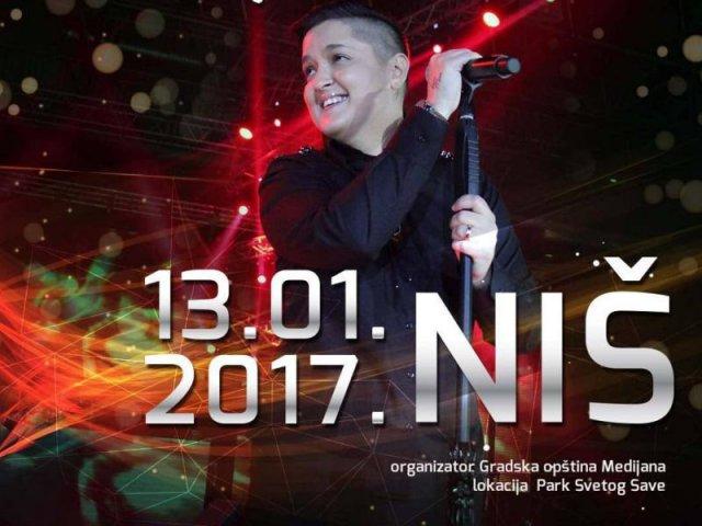 U Nišu večeras doček sa Marijom Šerifović