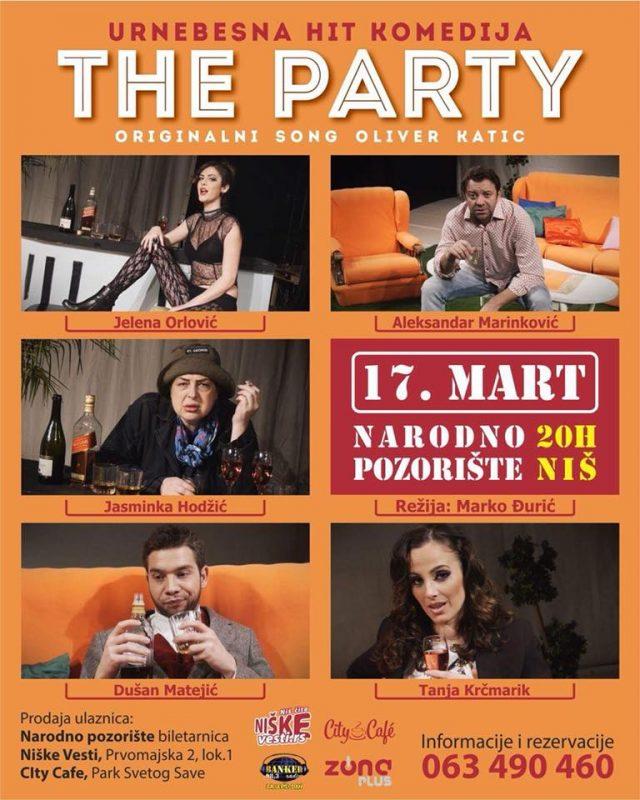 """Urnebesna komedija koju ne smete propustiti: """"THE PARTY"""" u Nišu!"""