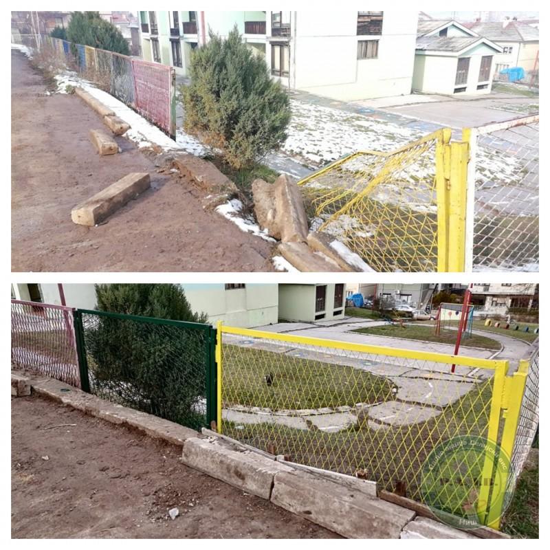 """Чалнови удружења """"Редне акције Делијски вис"""" поново у акцији - поправљена ограда вртића """"Пепељуга"""""""