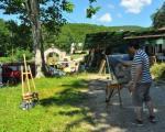 Мотиви манастира Ајдановац на платну уметника