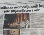 Istarske novine o Leskovčanima: Prilika za sve koji žele mir i prijateljstvo