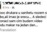 Objava napada na fejsbuku: Nožem sam ga izbo, imao je sreću!