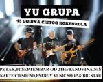 Ју Група у Нишу прославља јубилеј, 45 година чистог рокенрола, концертом 2. септембра