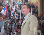 Vučić na mitingu u Leskovcu 26. marta