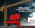 """Veliki bioskop: Otvaranje bioskopa """"Sinepleks Niš""""  u Stop šopu 10. novembra"""