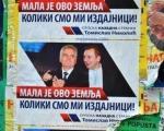 Плакати у Нишу: Николић и Вучић означени као издајници!