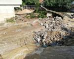 Након невремена, оштећени мостови на Врањској реци