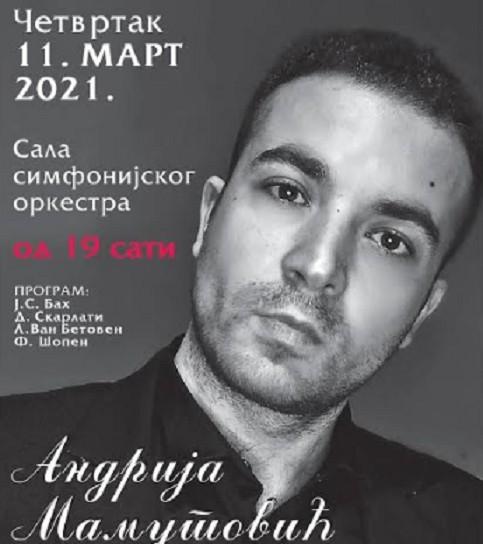 Концерт нишког пијанисте Андрије Мамутовића