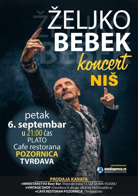 Жељко Бебек најављује велики рок спектакл 6. септембра у Нишу